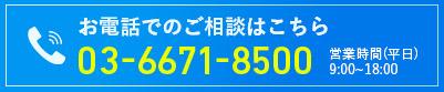 お電話でのお問い合わせはこちら 03-6671-8500